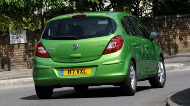 Vauxhall Corsa rear cornering