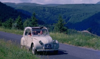 Citroen 2CV driving in France