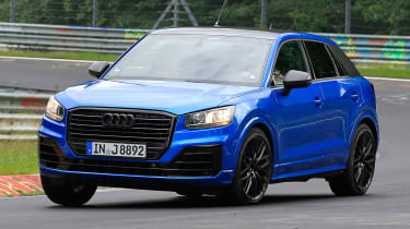 Audi SQ2 spy shots - front cornering 2