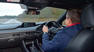 Mazda 3 long term - driving interior