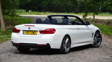 BMW 430i Convertible - rear roof open