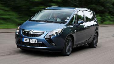 Vauxhall Zafira Bi-Turbo front action