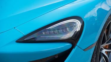 McLaren 570S Spider headlight detail