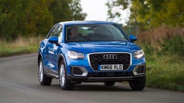 Audi Q2 - blue front cornering