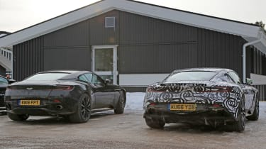 Aston Martin V8 Vantage mule rear with DB11