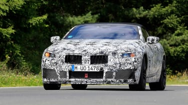 BMW M8 spy shot front