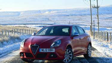 Photos of my old Alfa Romeo Giulietta up in the Durham Dales, Weardale a few weeks ago in the snow.