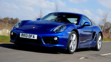 Porsche Cayman S front tracking