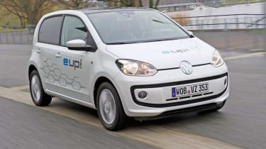 Electric VW up! front three-quarters