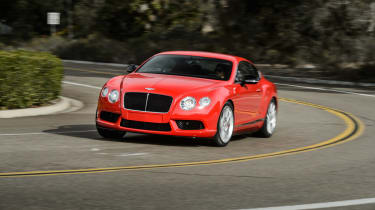 Bentley Continental GT V8 S coupe 2014 cornering