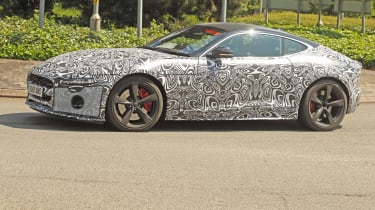 Jaguar F-Type facelift spy shot side profile