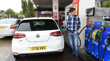 Ultimate guide to car sharing - Zipcar Golf GTE fuelling