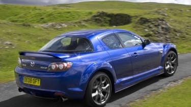 Mazda RX-8 coupe rear tracking