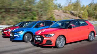 Vauxhall Corsa vs Peugeot 208 vs Audi A1