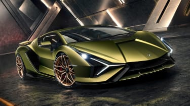 Lamborghini Sian - front action