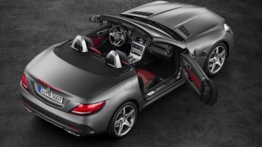 Mercedes SLC roadster - overhead
