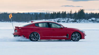 Kia Stinger GT prototype - side twilight