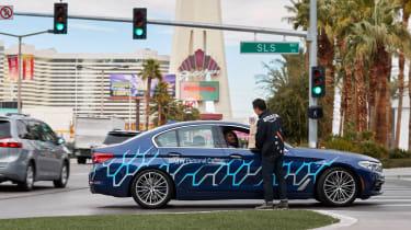 BMW 5 Series Personal CoPilot autonomous prototype  lights