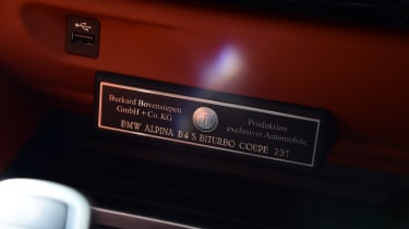 Alpina B4 S Coupe - plaque