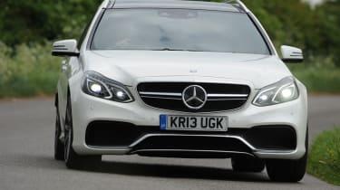 Mercedes E63 AMG estate front tracking