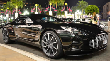 Aston Martin One-77 black