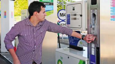 Autogas LPG filling up