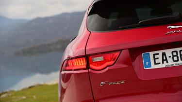 Jaguar F-Pace first drive - rear light