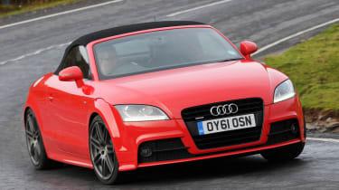 Audi TT front cornering