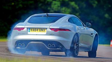 Jaguar F-Type R AWD Coupe - rear drift