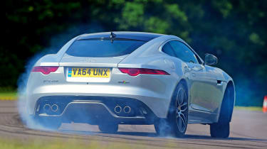 Jaguar F-Type R AWD Coupe - rear drift