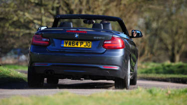 BMW 220d Convertible rear