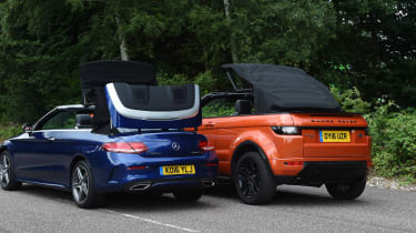 Range Rover Evoque Convertible vs Mercedes C-Class Cabriolet - roof openings