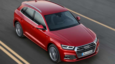 Audi Q5 SUV - front tracking