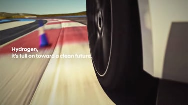 Hyundai hydrogen-powered sports saloon teaser 3