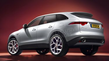 Jaguar F-Pace SUV Auto Express rendering - rear