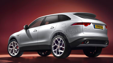 Jaguar F-Pace SUV Auto Express rendering - rear