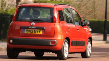 Fiat Panda TwinAir rear cornering