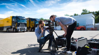 Film team Renault Pro+ vans outside