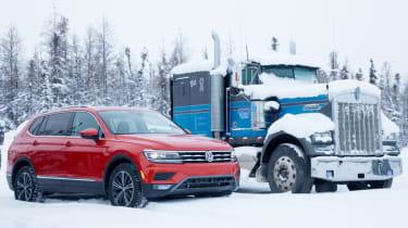 Volkswagen Tiguan and truck