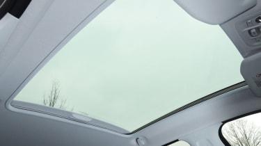 Peugeot 208 panoramic sunroof detail