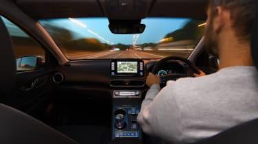 Richard Ingram does driving at dusk