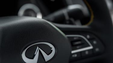 Infiniti Project Black S steering wheel