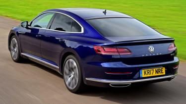 Volkswagen Arteon review - road rear