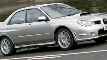 Side view of Subaru Impreza WRX
