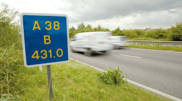 Motorway marker sign