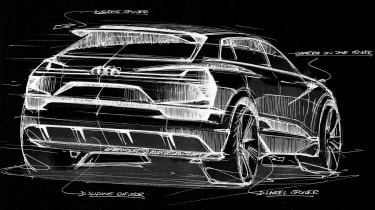 Audi Q6 e-tron sketch rear