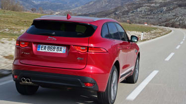 Jaguar F-Pace first drive - rear tracking