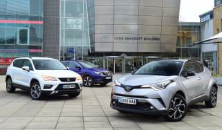 Toyota C-HR vs SEAT Ateca vs Nissan Qashqai - header