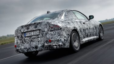 BMW 2 Series Coupe prototype - rear tracking