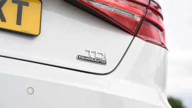 Audi A3 vs Volvo V40 vs Volkswagen Golf - A3 badge